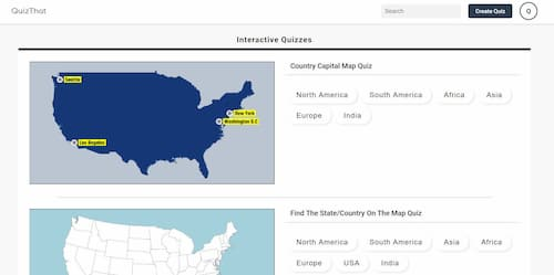 QuizThat: Interactive Geography Quiz and a Quiz Generator